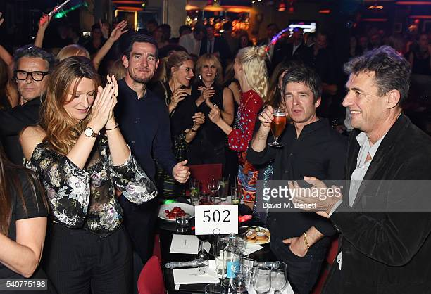 Guests including George Waud Amy Gadney Laura Bailey Chrissie Hynde Poppy Delevingne Noel Gallagher and Tim Bevan attend 'Hoping's Greatest Hits' the...