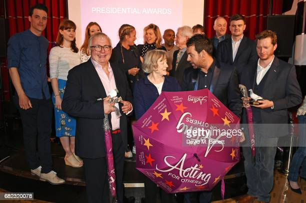 Guests including KJ Hippensteel Christopher Biggins Dame Maggie Smith Ben Forster Tamzin Outhwaite Janie Dee George Layton and Michael Wharley attend...
