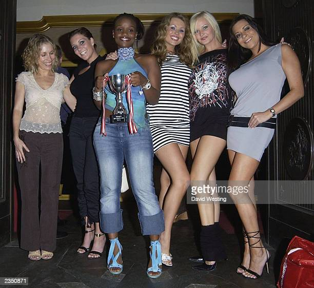 Guests including model model Lyndsay Dawn McKenzie attend The Mr Universe competition at The Sway Club July 30 2003 in London