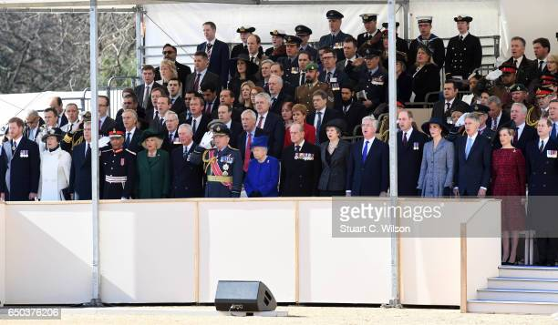 Guests including Prince Harry Jeremy Corbyn Princess Anne the Princess Royal Camilla duchess of Cornwall Prince Charles Prince of Wales Queen...