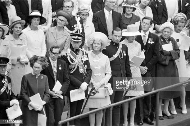 Guests including The Duke and Duchess of Kent at the Investiture of Prince Charles at Caernarfon Castle Caernarfon Wales 1st July 1969