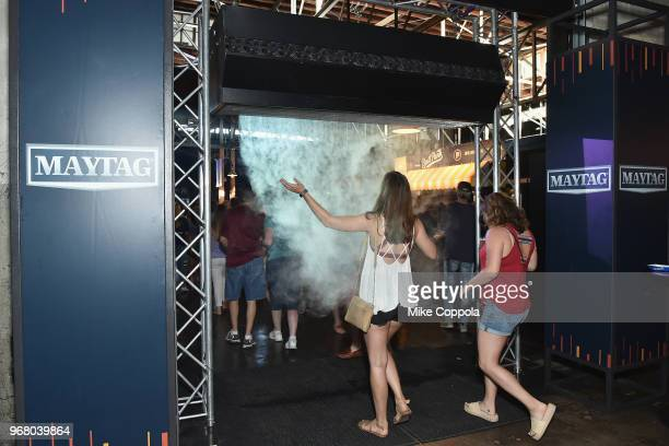 Guests interact with the Maytag activation at Pandora Presents Backroads at Marathon Music Works on June 5 2018 in Nashville Tennessee