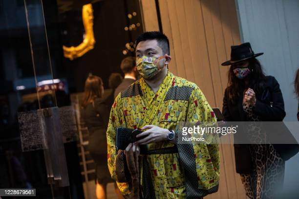 Guests is seen at Dolce e Gabbana fashion show during the Milano Fashion Week Spring-Summer 20/21, Italy, September 23 2020
