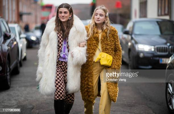 Guests is seen outside Baum und Pferdgarten during the Copenhagen Fashion Week Autumn/Winter 2019 Day 3 on January 31 2019 in Copenhagen Denmark