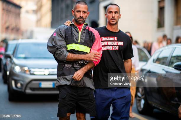 Guests is seen outside No 21 during Milan Fashion Week Spring/Summer 2019 on September 19 2018 in Milan Italy