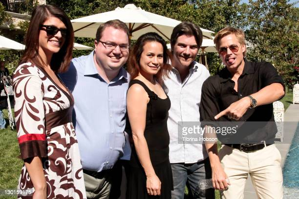 Guests Joanie Miller Jeremy Miller and Kato Kaelin attend the 2011 Starlight Children's Foundation's Design and Wine Fundraiser at Kathy Hilton's...