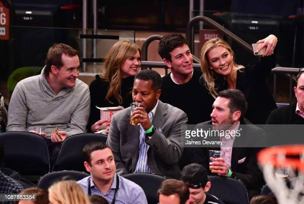 Guests Joshua Kushner and Karlie Kloss attend Houston Rockets v New York Knicks game at Madison Square Garden on January 23 2019 in New York City