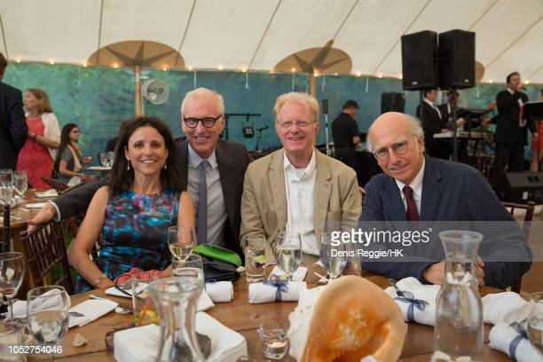 Guests Julia Louis Dreyfus Brad Hall Ed Bagley Jr and Larry David attend Cheryl Hines and Robert F Kennedy Jr Wedding at a private home on Saturday...