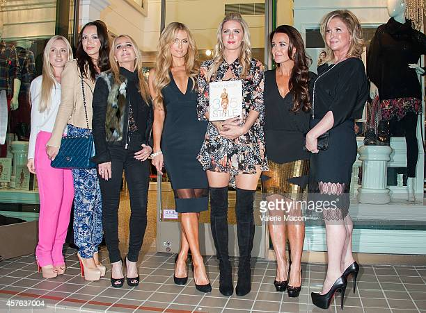 Guests Kim Richards Paris Hilton Nicky Hilton Kyle Richards and Kathy Hilton attend Nicky Hilton's 365 Style book party for the filming of The Real...