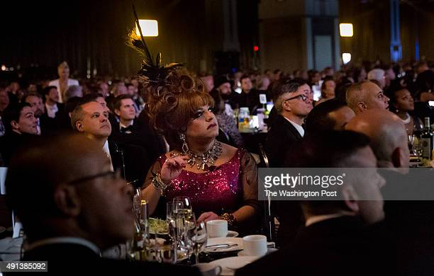 October 3: Guests listen to activist Blossom Brown speak at the 19th annual Human Rights Campaign National Dinner held at the Walter E. Washington...