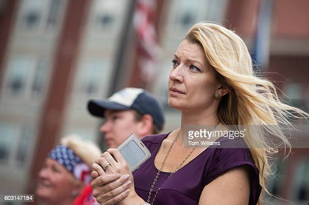 Guests listen to speakers before the 9/11 Memorial Stair Climb in the Brady Sullivan Building in Manchester NH September 11 2016 Participants climb...