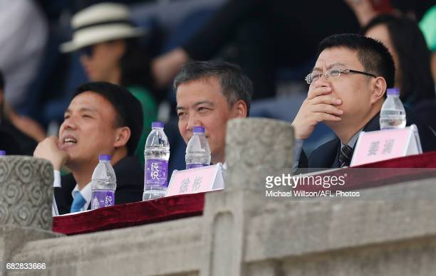 Guests look on during the 2017 AFL round 08 match between the Gold Coast Suns and Port Adelaide Power at Jiangwan Sports Stadium on May 14 2017 in...