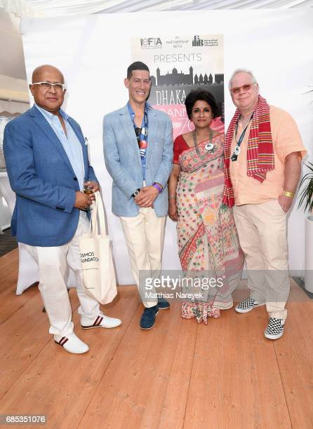 Guests Marco Orsini Samia Zaman and Gary Springer attend From Dhaka to Cannes A Celebration of Talent hosted by the International Emerging Film...