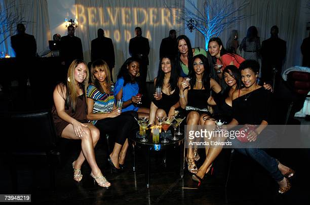 Guests mingle at the Belvedere Vodka exclusive afterparty for the Los Angeles stop of the Jamie Foxx Unpredictable tour at Social Hollywood on April...