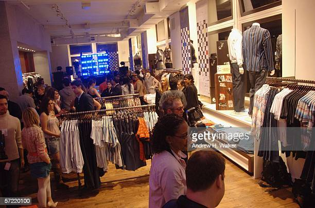 Guests mingle at the launch of Ben Sherman's first official US Flagship Store on March 30 2006 in New York City