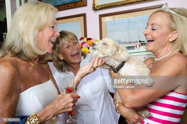 CONTENT] Guests mingle during a birthday luncheon in the Ivy at the Shore restaurant / Santa Monica California / August 15th 2012