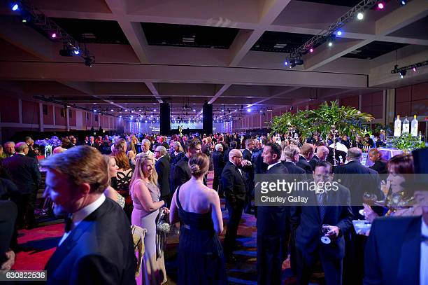Guests mingle during the 28th Annual Palm Springs International Film Festival Film Awards Gala at the Palm Springs Convention Center on January 2...