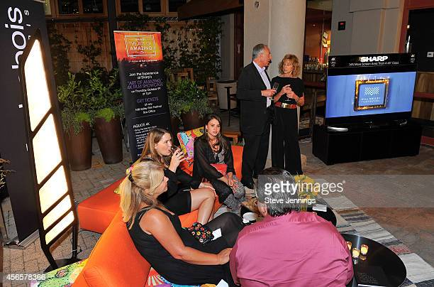 Guests mingle in the Sharp VIP area at the Mill Valley Film Festival Opening Night Gala Sharp is celebrating high resolution at the festivalby...