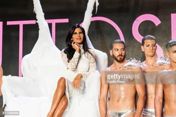 OLTREMARE NAPLES ITALY/ CAMPANIA ITALY Guests of the All Bride at the Overseas Show of the Queen of Bagaglino Pamela Prati to cheer the evening with...