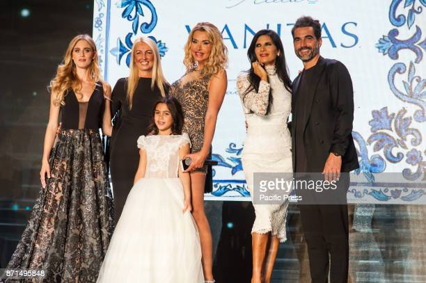 OLTREMARE NAPLES ITALY/ CAMPANIA ITALY Guests of the All Bride at the Overseas Show of the Queen of Bagaglino Valeria Marini and Pamela Prati to...