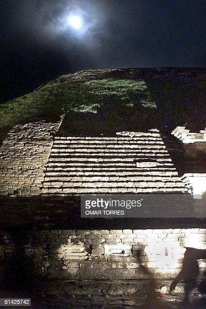 Guests of the ceremony and spectators for recieving the first solstice of spring in the archealogical ruins of El Tajin which began on the night of...
