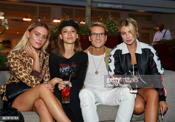 Guests Oliver Proudlock and Jess Woodley attend the Taylor Morris Eyewear x Aspall Tennis Classic Player's Party at Bluebird Chelsea on June 28 2017...