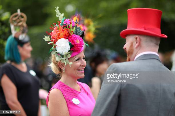 Guests on day three, Ladies Day, of Royal Ascot at Ascot Racecourse on June 20, 2019 in Ascot, England.
