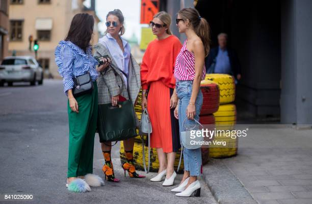 Guests outside By Malina on August 30 2017 in Stockholm Sweden