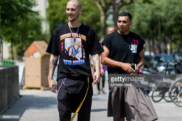 Guests outside Rick Owens during Paris Fashion Week Menswear Spring/Summer 2018 on June 22 2017 in Paris France