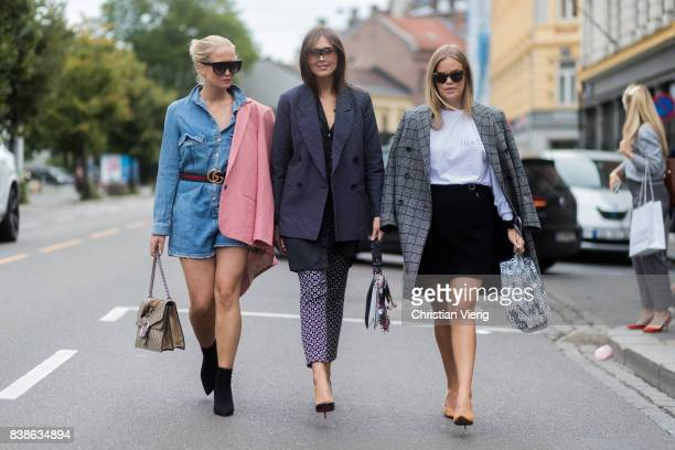 Guests outside Vanessa Rudjord on August 24 2017 in Oslo Norway