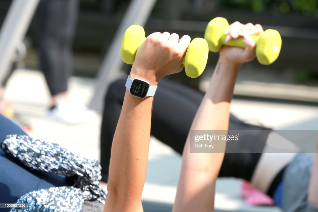 Fitbit And PH5 Host Harley Pasternak Workout : News Photo