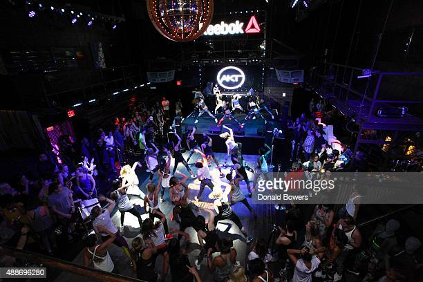 Guests participate in the AKT in Motion Class at Marquee on September 16 2015 in New York City
