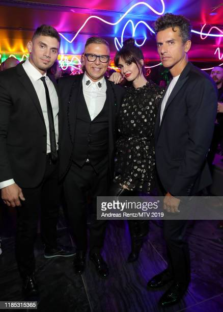 Guests Paz Vega and Orson Salazar attend the MTV EMAs 2019 after party at FIBES Conference and Exhibition Centre on November 03 2019 in Seville Spain