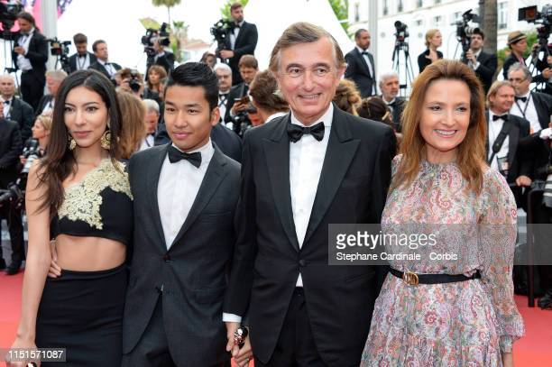 guests Philippe DousteBlasy and Marie Yvonne Douste Blazy attend the screening of Sibyl during the 72nd annual Cannes Film Festival on May 24 2019 in...