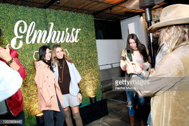 Guests pose as Elmhurst 1925 celebrates PlantBased Movement with Plant the Revolution panel discussion at Gracias Madre on January 28 2020 in West...