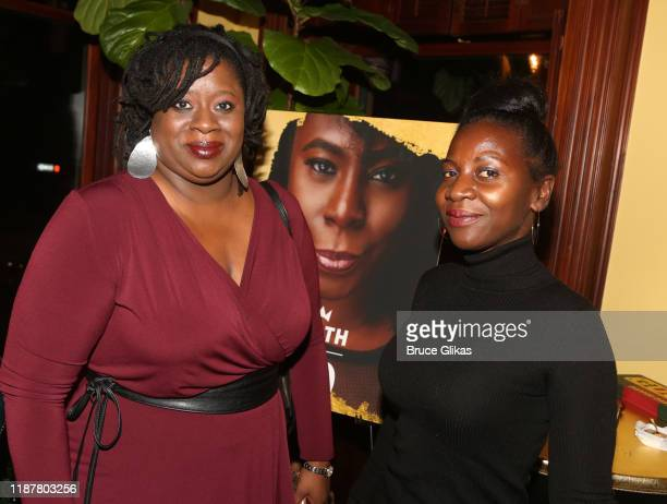 Guests pose at the celebration for the North of 40 Podcast Launch at Dapper Dan Atelier on November 14 2019 in New York City