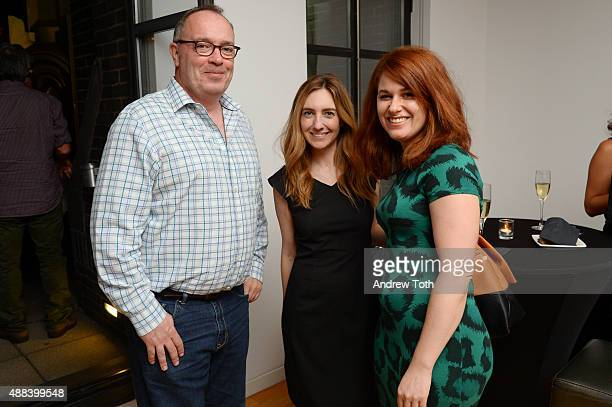 Guests pose for a photo during the private screening and QA for Showtime Documentary Films Prophet's Prey at Bryant Park Hotel on September 15 2015...