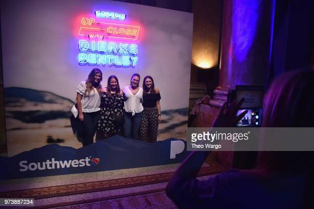 Guests pose in the Southwest activation at Pandora Up Close With Dierks Bentley Sponsored By Southwest on June 13 2018 in New York City