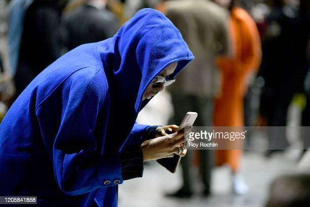 Guests prepare for the Sukeina runway show during New York Fashion Week The Shows in Gallery I at Spring Studios on February 12 2020 in New York City