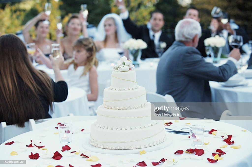 Guests Raising Toast At Wedding Reception Stock Photo Getty Images