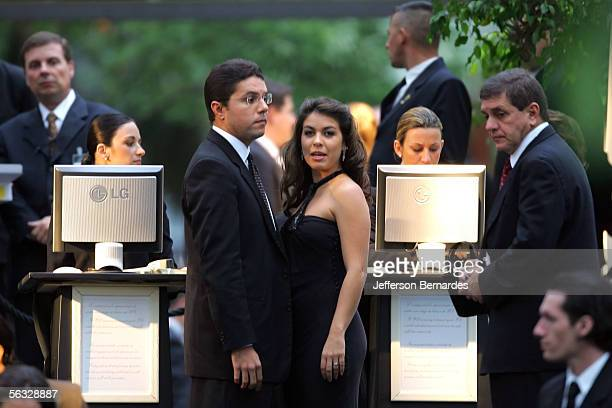 Guests Register At The Entrance To Maria Luisa And Oscar Americano Foundation Art Museum As