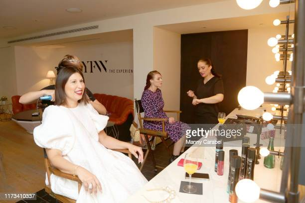 Guests relax in the Skybox lounge above Gallery II at Spring Studios during New York Fashion Week: The Shows on September 09, 2019 in New York City.