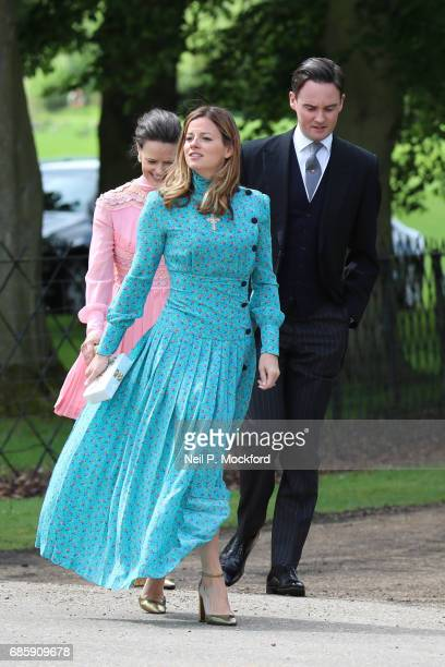 Guests seen arriving at St Mark's Church for the Wedding of Pippa Middleton and James Matthews on May 20 2017 in Englefield England