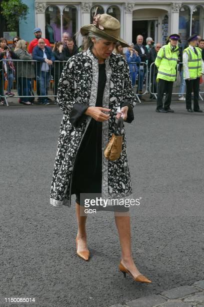 Guests seen arriving at Windsor Castle for the wedding of Lady Gabriella Windsor and Mr Thomas Kingston on May 18 2019 in Windsor England