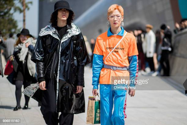 Guests seen at the Hera Seoul Fashion Week 2018 F/W at Dongdaemun Design Plaza on March 22 2018 in Seoul South Korea