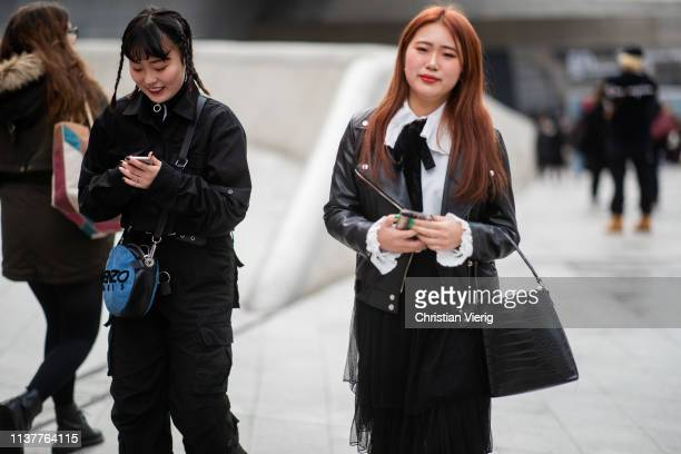 Guests seen at the Hera Seoul Fashion Week 2019 F/W at Dongdaemun Design Plaza at Dongdaemun Design Plaza on March 23 2019 in Seoul South Korea