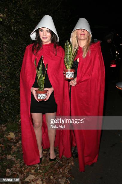 Guests seen attending Jonathan Ross Halloween party on October 31 2017 in London England