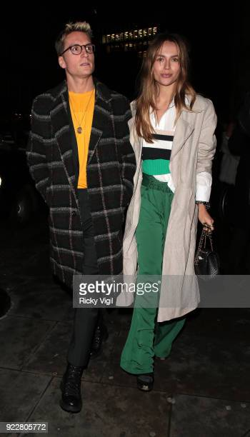 Guests seen attending Warner Music Group afterparty at The Freemasons' Hall on February 21 2018 in London England
