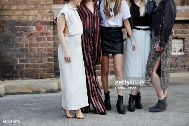 Guests seen during Mercedes-Benz Fashion Week Weekend Edition 2018 at Carriageworks on May 19, 2018 in Sydney, Australia.