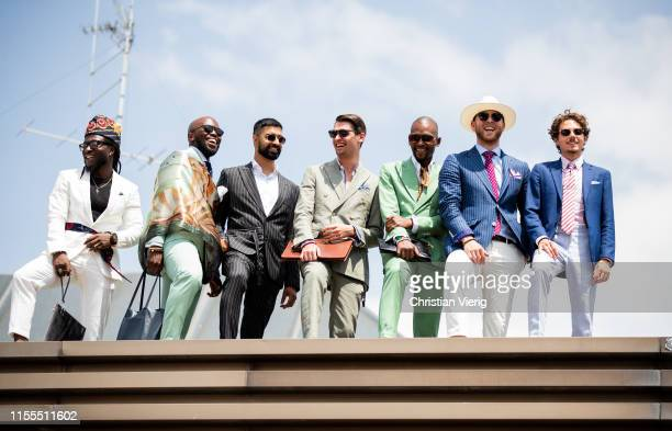 Guests seen during Pitti Immagine Uomo 96 on June 12 2019 in Florence Italy